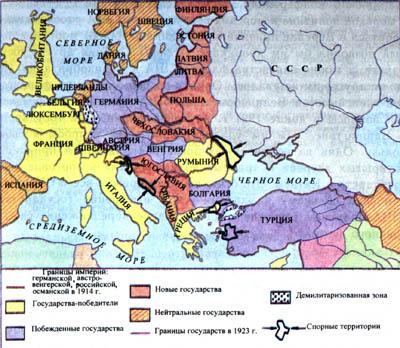 Европа после первой мировой войны